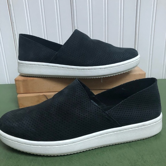 Eileen Fisher Shoes - Eileen Fisher Panda Perforated Nubuck Slip Ons